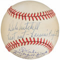 Autographs:Baseballs, Don Larsen & Dale Mitchell Perfect Game Multi-Signed Baseball....