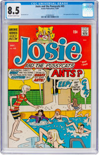 Josie and the Pussycats #45 (Archie, 1969) CGC VF+ 8.5 Off-white to white pages
