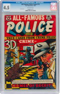 Golden Age (1938-1955):Crime, All-Famous Police Cases #13 (Star Publications, 1953) CGC VG+ 4.5 Off-white pages....