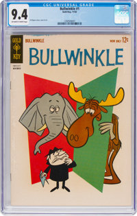 Bullwinkle #1 (Gold Key, 1962) CGC NM 9.4 Off-white to white pages