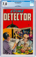 Golden Age (1938-1955):Crime, Crime Detector #1 (Timor, 1954) CGC FN/VF 7.0 White pages....