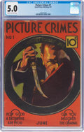 Platinum Age (1897-1937):Miscellaneous, Picture Crimes #1 (David McKay Publications, 1937) CGC VG/FN 5.0Cream to off-white pages....