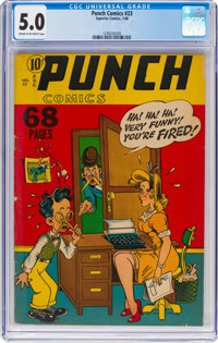 Punch Comics #23 (Superior, 1948) CGC VG/FN 5.0 Cream to off-white pages