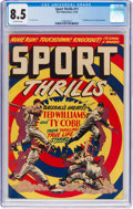 Golden Age (1938-1955):Miscellaneous, Sport Thrills #11 (Star Publications, 1950) CGC VF+ 8.5 Off-white pages....