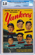 Golden Age (1938-1955):Non-Fiction, Thrilling True Story of the Baseball Yankees #nn (FawcettPublications, 1952) CGC GD 2.0 Cream to off-white pages....
