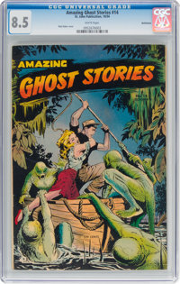 Amazing Ghost Stories #14 Bethlehem Pedigree (St. John, 1954) CGC VF+ 8.5 White pages
