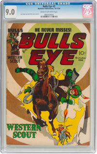 Bulls-Eye #2 (Mainline Publications, 1954) CGC VF/NM 9.0 Cream to off-white pages