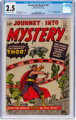 Journey Into Mystery #83 (Marvel, 1962) CGC GD+ 2.5 Off-white to white pages