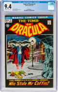 Bronze Age (1970-1979):Horror, Tomb of Dracula #2 (Marvel, 1972) CGC NM 9.4 Off-white to whitepages....
