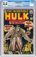 Silver Age (1956-1969):Superhero, The Incredible Hulk #1 (Marvel, 1962) CGC VG- 3.5 White pages....