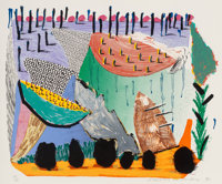 David Hockney (b. 1937) Slow Rise, 1993-94 Lithograph and screenprint in colors on Arches 88 paper