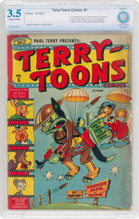 Terry-Toons Comics #1 (Timely, 1942) CBCS VG- 3.5 Slightly brittle pages