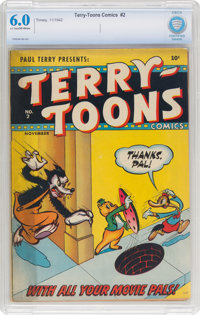 Terry-Toons Comics #2 (Timely, 1942) CBCS FN 6.0 Light tan to off-white pages