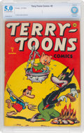 Golden Age (1938-1955):Humor, Terry-Toons Comics #3 (Timely, 1942) CBCS VG/FN 5.0 Light tan to off-white pages....
