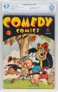 Comedy Comics #13 (Timely, 1943) CBCS VG+ 4.5 Slightly brittle pages