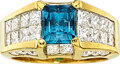 Estate Jewelry:Rings, Tourmaline, Diamond, Gold Ring The ring featur...