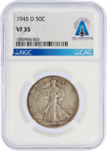 Explorers:Space Exploration, 1945-D 50¢ VF35 Walking Liberty Half Dollar Directly From The Armstrong Family Collection™, Certified and Encapsulated...