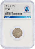 Explorers:Space Exploration, 1942-S XF40 NGC Mercury Dime Directly From The Armstrong Family Collection™, Certified and Encapsulated by Collectible...