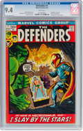 Bronze Age (1970-1979):Superhero, The Defenders #1 (Marvel, 1972) CGC NM 9.4 White pages....