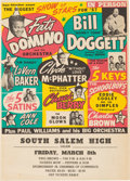 Music Memorabilia:Posters, Fats Domino/Chuck Berry South Salem High Concert Handbill (Super Attractions Present, 1957). Very Rare....