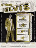 Music Memorabilia:Posters, Elvis Presley Bloch Arena, Pearl Harbor Concert Handbill (The Pacific War Memorial Commission Proudly Presents, 1961). Very Ra...