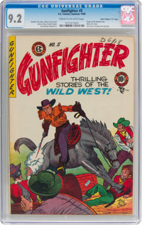 "Gunfighter #5 Davis Crippen (""D"" Copy) Pedigree (EC, 1948) CGC NM- 9.2 Cream to off-white pages"
