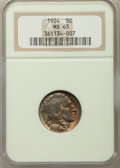 Buffalo Nickels: , 1924 5C MS65 NGC. NGC Census: (106/45). PCGS Population: (240/147). CDN: $750 Whsle. Bid for problem-free NGC/PCGS MS65. Mi...
