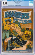 Golden Age (1938-1955):Adventure, Rangers Comics #14 (Fiction House, 1943) CGC VG 4.0 Cream to off-white pages....