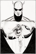 Original Comic Art:Covers, John Cassaday Captain America: Reborn #6 Variant Cover Original Art (Marvel, 2003)....