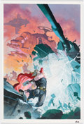 Original Comic Art:Covers, Esad Ribic Thor God of Thunder #21 Cover Original Art (Marvel, 2014)....