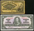 Canadian Currency, DC-15c 25 Cents 1900;. BC-24c $10 1937. ... (Total: 2 notes)