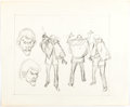 Animation Art:Concept Art, John Buscema Spider-Man Mastermind Sketches Original Art(Marvel Productions, 1981)....