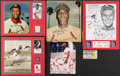 Autographs:Photos, Bob Gibson Signed Display Lot of 5 Plus 1 Ticket Stub.... (Total: 6items)