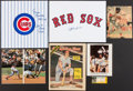 Autographs:Photos, Baseball Greats Signed Display Lot of 6.... (Total: 6 items)