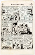 Original Comic Art:Panel Pages, George Papp World's Finest #73 Story Page 6 Green ArrowOriginal Art (DC, 1954)....