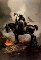 Frank Frazetta Death Dealer Signed Limited Edition Gold Print #74/345 (Paradox Productions, c. 1980s).... (1)