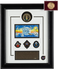 """""""The Historic Space Shuttle Program - Mission Complete"""" Limited Edition, #0482/5000, Framed Display [and] STS-..."""
