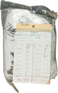 Explorers:Space Exploration, NASA Kennedy Space Center: Two Pound Package of Technical Talcum Powder with 1972-Dated Parts Tag. ...