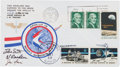"""Explorers:Space Exploration, Apollo 15 Lunar Module Flown Crew-Signed """"Sieger"""" Cover #59, with Signed and Notarized Certification. ..."""