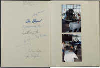 History of NASA, America's Voyage to the Stars Book Signed by Neil Armstrong, Alan Shepard, Michael Col