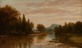 Fine Art - Painting, American:Antique  (Pre 1900), Edward W. Nichols (American, 1819-1871). Morning on Mt.Holyoke, 1864. Oil on canvas . 20 x 34 inches (50.8 x 86.4 cm)....