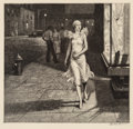 Prints & Multiples, Martin Lewis (1881-1962). Night in New York, 1932. Etching on cream laid paper. 8-1/2 x 8-7/8 inches (21.6 x 22.5 cm) (i...