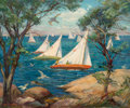 Paintings, Marguerite Stuber Pearson (American, 1898-1978). Skirting the Sail. Oil on canvas. 19-3/4 x 24 inches (50.2 x 61.0 cm). ...