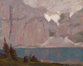Fine Art - Painting, American, Edgar Alwin Payne (American, 1883-1947). Clouds Over SierraLake. Oil on canvasboard. 12-1/4 x 15-1/4 inches (31.1 x 38....