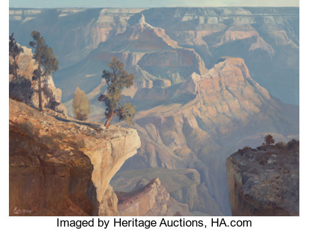 Ralph Love (American, 1907-1992)Canyon Morning from Yavapai Point, 1984Oil on canvas30 x 40 inches (76.2 x 101.6 c...