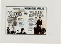 Music Memorabilia:Posters, Misfits and Flesh Eaters Whisky Concert Ad Proof Circa 1982....