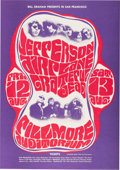 Music Memorabilia:Posters, Jefferson Airplane and Grateful Dead Fillmore West Concert Poster(San Francisco, 1966)....
