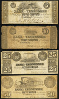 Obsoletes By State:Tennessee, Nashville, TN- Bank of Tennessee 5¢; 10¢; 25¢; 50¢ Dec. 1, 1861 . ... (Total: 4 notes)