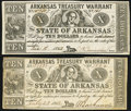 Obsoletes By State:Arkansas, Missing Back Printing (Little Rock), AR- State of Arkansas $10 1862 (2) Cr. 54A; 54B. ... (Total: 2 notes)