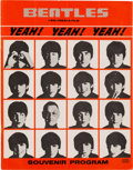 Music Memorabilia:Memorabilia, Beatles Swedish Yeah! Yeah! Yeah! (A Hard Day'sNight) Souvenir Program (Sweden, 1964)....